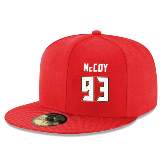 Tampa Bay Buccaneers 93 Mccoy Red NFL Hat