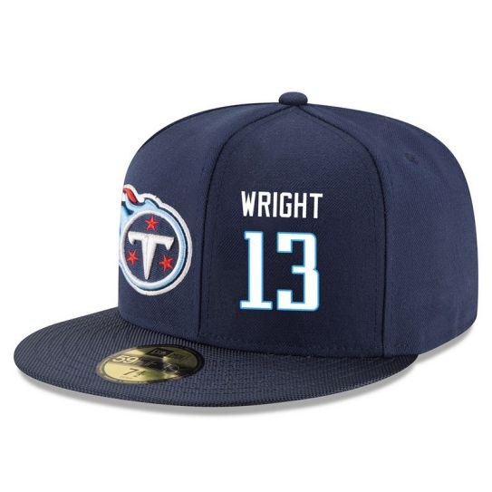 Tennessee Titans 13 Wright Blue NFL Hat