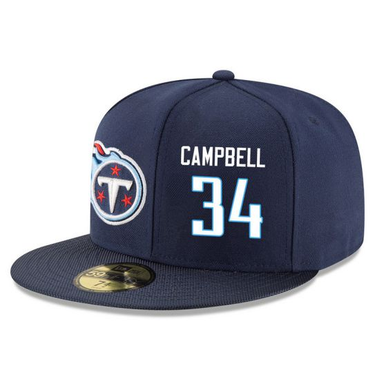Tennessee Titans 34 Campbell Blue NFL Hat