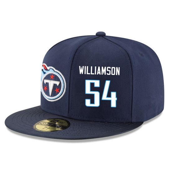 Tennessee Titans 54 Williamson Blue NFL Hat