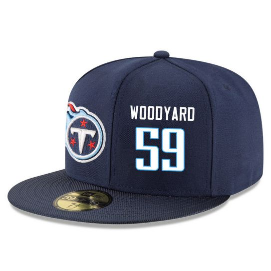 Tennessee Titans 59 Woodyard Blue NFL Hat