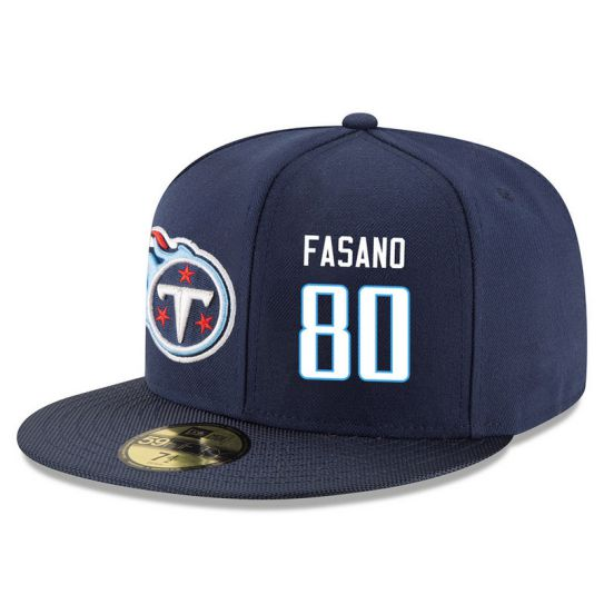 Tennessee Titans 80 Fasano Blue NFL Hat
