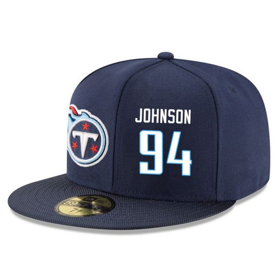 Tennessee Titans 94 Johnson Blue NFL Hat