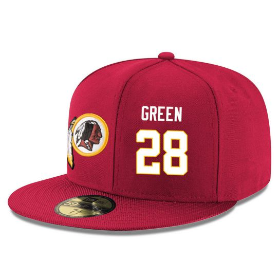 Washington Redskins 28 Green Red NFL Hat