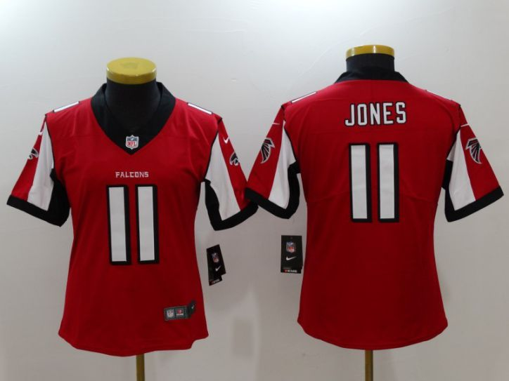 Women Atlanta Falcons 11 Jones Red Nike Vapor Untouchable Limited NFL Jersey