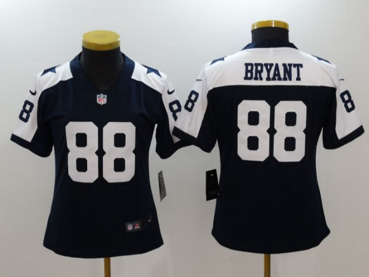Women Dallas cowboys 88 Bryant Blue Thanksgiving Nike Vapor Untouchable Limited NFL Jerseys