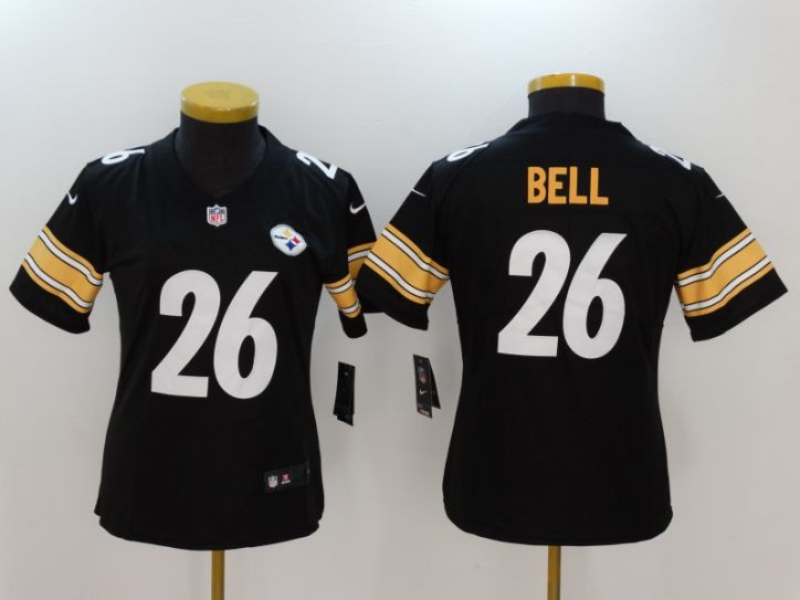 Women Pittsburgh Steelers 26 Bell Black Nike Vapor Untouchable Limited NFL Jersey