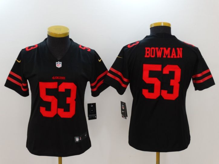 Women San Francisco 49ers 53 Bowman Black Nike Vapor Untouchable Limited NFL Jersey