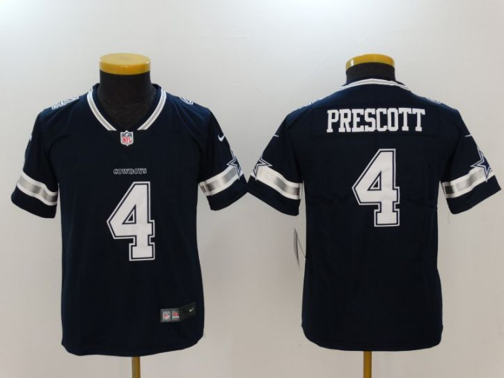 Youth Dallas Cowboys 4 Prescott Blue Nike Vapor Untouchable Limited NFL Jerseys