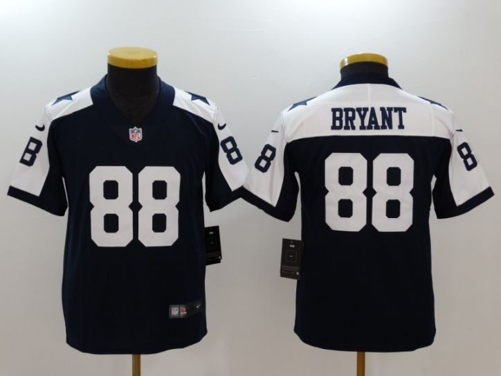 Youth Dallas cowboys 88 Bryant Blue Thanksgiving Nike Vapor Untouchable Limited NFL Jerseys