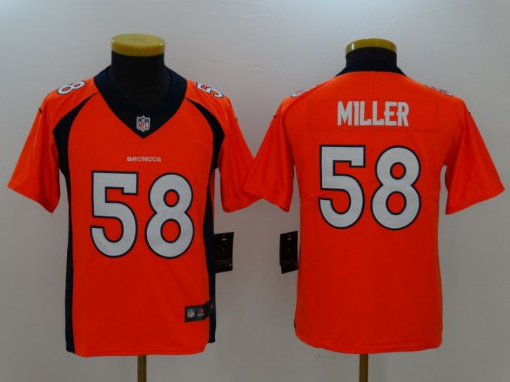 Youth Denver Broncos 58 Miller Orange Nike Vapor Untouchable Limited NFL Jersey