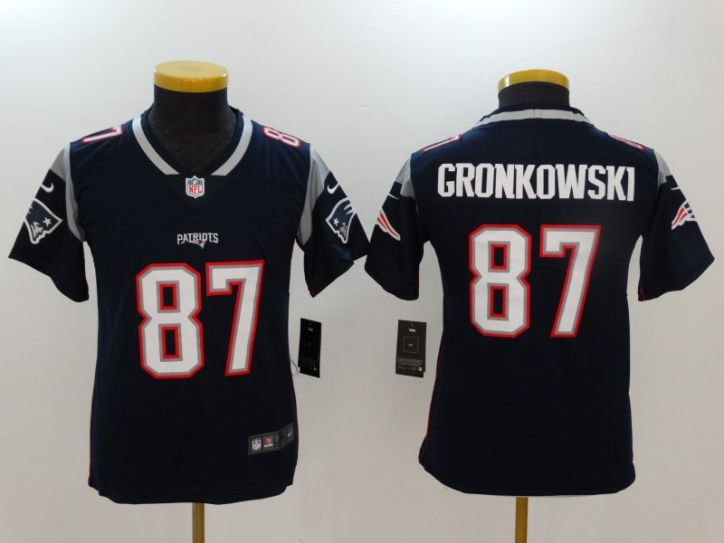 Youth New England Patriots 87 Gronkowski Blue Nike Vapor Untouchable Limited NFL Jerseys