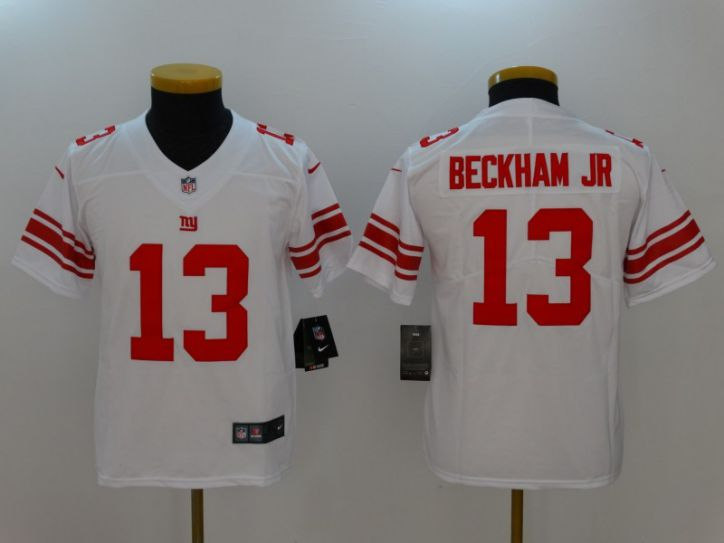 Youth New York Giants 13 Beckham JR White Nike Vapor Untouchable Limited NFL Jersey