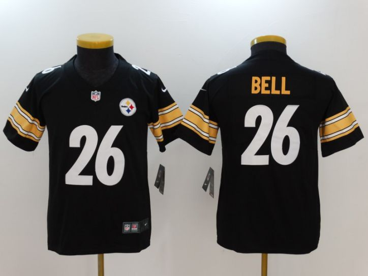Youth Pittsburgh Steelers 26 Bell Black Nike Vapor Untouchable Limited NFL Jersey