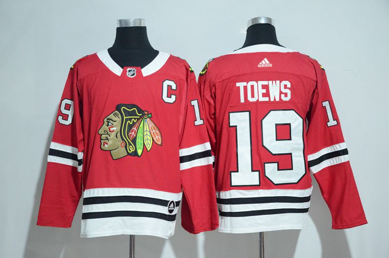 2017 Chicago Blackhawks 19 Toews red Adidas jerseys
