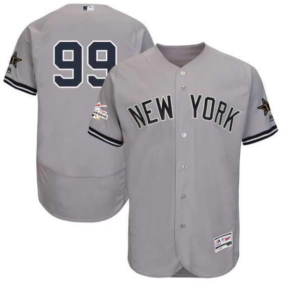2017 MLB All Star New York Yankees 99 Judge Grey Elite Jerseys
