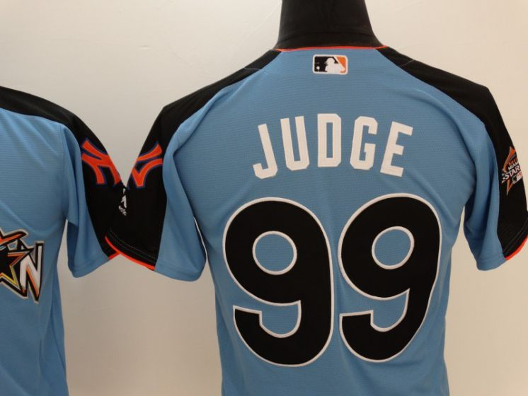 2017 MLB All-Star New York Yankees 99 Judge blue Jerseys