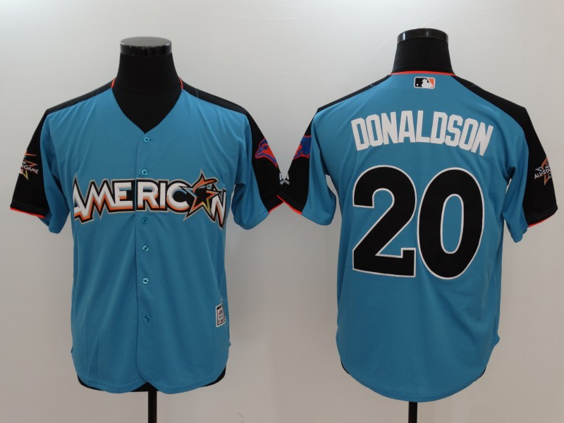 2017 MLB All-Star Toronto Blue Jays 20 Donaldson Blue Jerseys