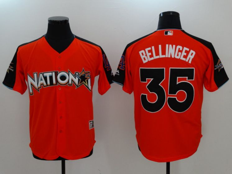 2017 MLB All-Star Washington Nationals 35 Bellinger Orange Jerseys