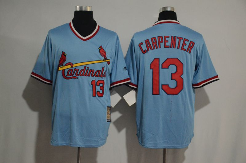 2017 MLB St Louis Cardinals 13 Cartenper blue jersey