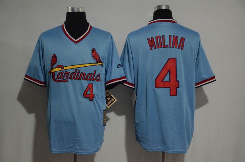 2017 MLB St Louis Cardinals 4 Molina blue jerseys