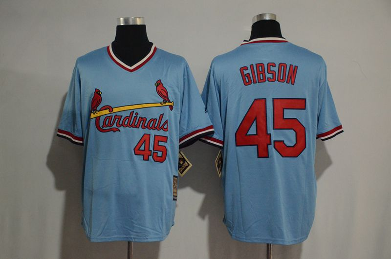 2017 MLB St Louis Cardinals 45 Gibson blue Jerseys