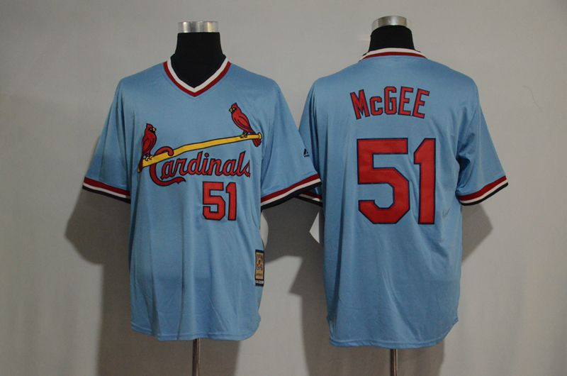 2017 MLB St Louis Cardinals 51 Willie McGee blue jersey