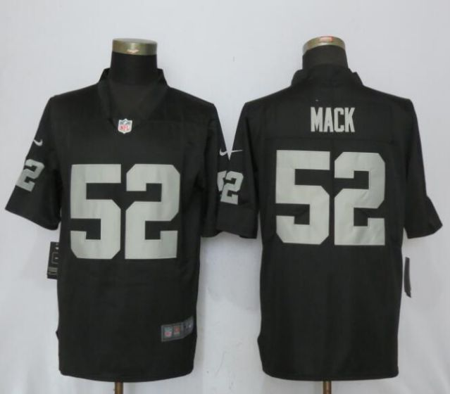 2017 NFL NEW Nike Oakland Raiders 52 Mack Black 2017 Vapor Untouchable Limited Player