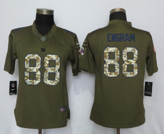 2017 NFL Women New Nike New York Giants 88 Engram Green Salute To Service Limited Jersey