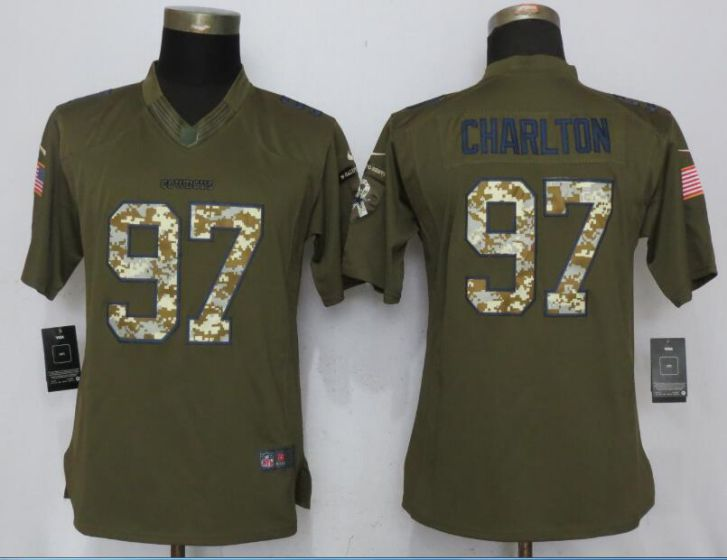 2017 NFL Women Nike Dallas cowboys 97 Charlton Green Salute To Service Limited Jersey