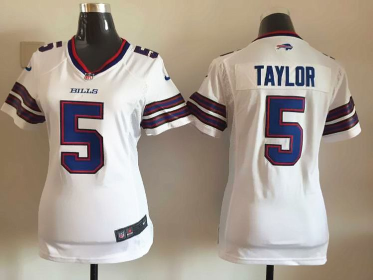 2017 Womens Buffalo Bills 5 Taylor white NFL nike jersey
