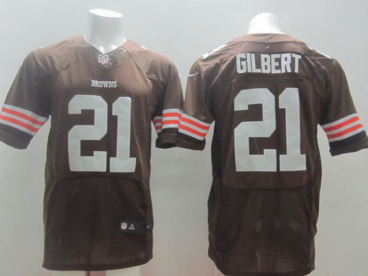 Cleveland Browns 21 Gilbert brown Nike NFL Elite Jerseys