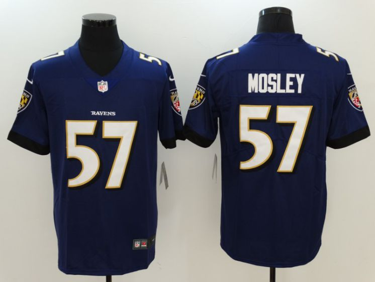 Men Baltimore Ravens 57 Mosley Purple Nike Vapor Untouchable Limited NFL Jerseys