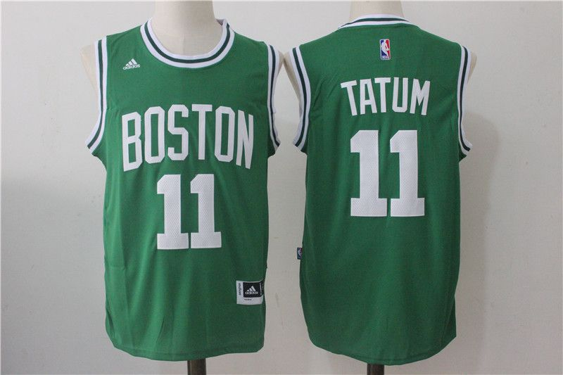 Men Boston Celtics 11 Jayson Tatum Green NBA Jerseys