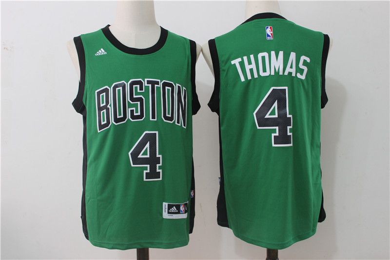 Men Boston Celtics 4 Isaiah Thomas Green NBA Jerseys