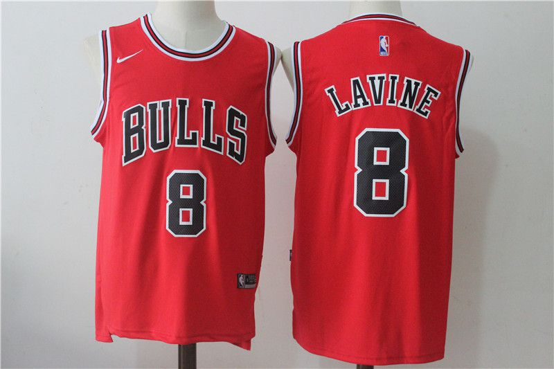 Men Chicago Bulls 8 Lavine Red NBA Jerseys