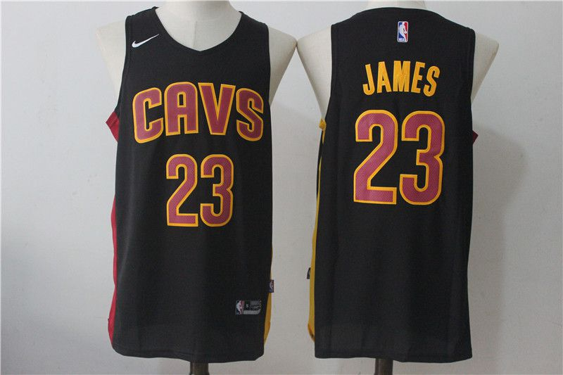 Men Cleveland Cavaliers 23 Lebron James Black NBA Jerseys