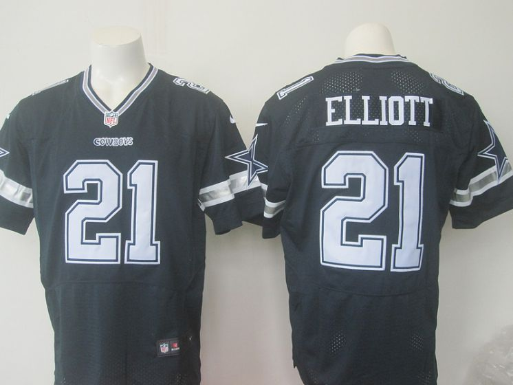 Men Dallas Cowboys 21 Elliott Nike NFL blue elite jersey