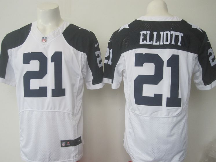 Men Dallas Cowboys 21 Elliott Nike NFL white thanksgiving elite jersey