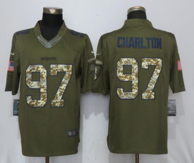 Men Dallas cowboys 97 Charlton Green Nike Salute To Service Limited NFL Jerseys