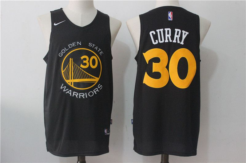 Men Golden State Warriors 30 Curry Black NBA Jerseys