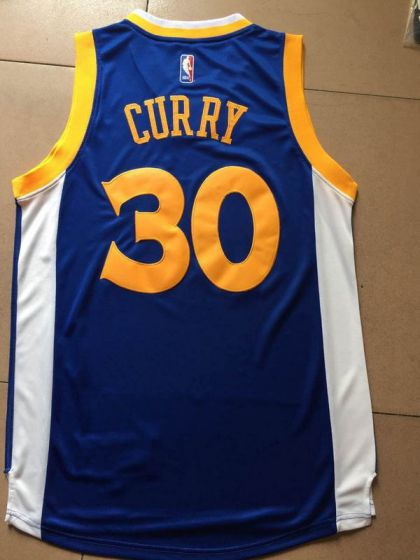 Men Golden State Warriors 30 Curry Blue Champions NBA Jerseys