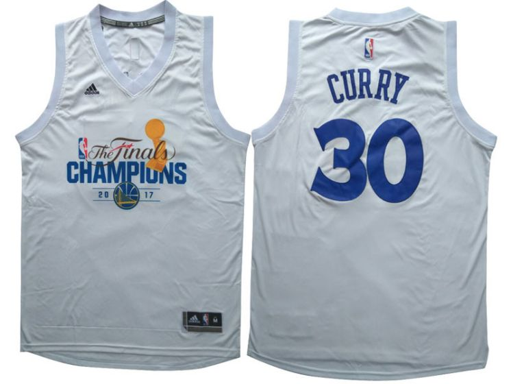 Men Golden State Warriors 30 Curry White Champions NBA Jerseys
