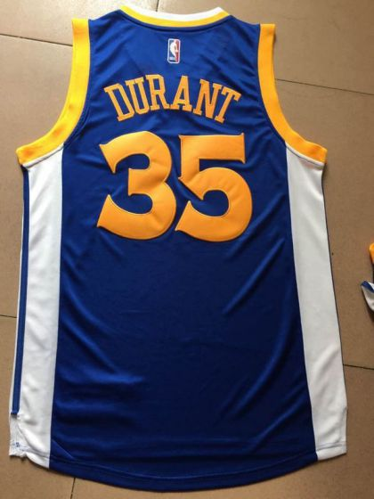 Men Golden State Warriors 35 Durant Blue Champions NBA Jerseys