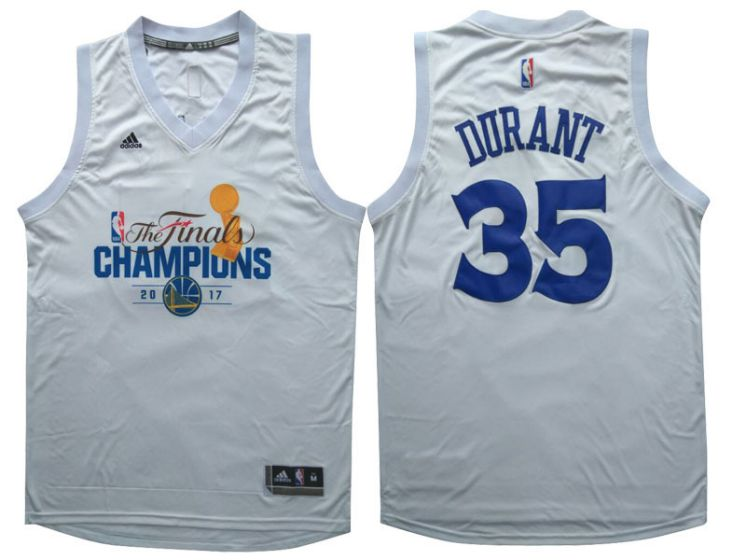 Men Golden State Warriors 35 Durant White Champions NBA Jerseys