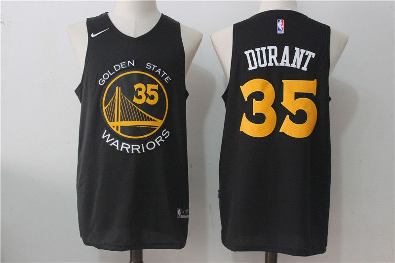 Men Golden State Warriors 35 Kevin Durant Black NBA Jerseys