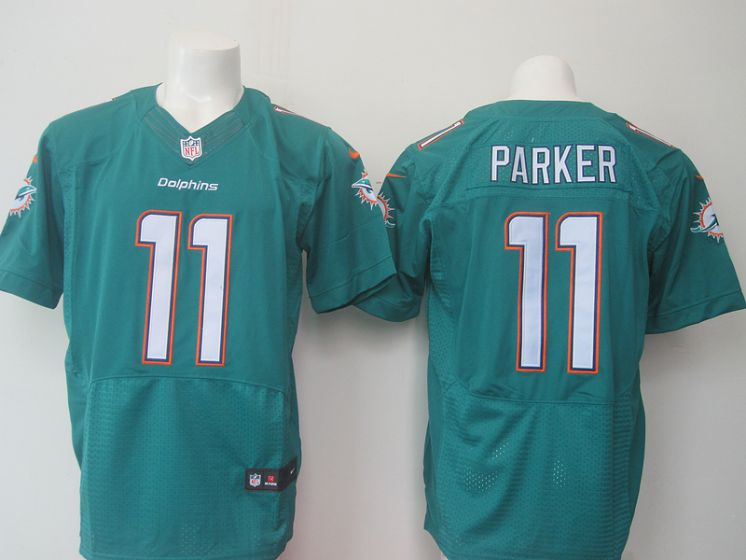 Men Miami Dolphins 11 Parker green elite NFL Nike jersey