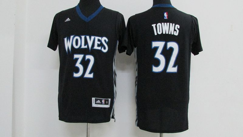 Men Minnesota Timberwolves 32 Towns Black NBA Jerseys