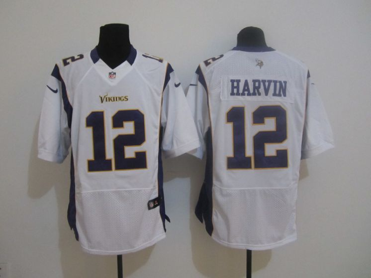 Men Minnesota Vikings 12 Percy Harvin white Elite NFL Nike jerseys