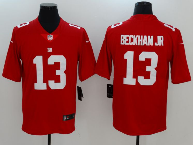 Men New York Giants 13 Beckham jr Red Nike Vapor Untouchable Limited NFL Jerseys